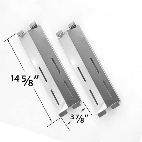 2 PACK STAINLESS STEEL HEAT PLATE FOR GAS GRILL MODELS BY COASTAL 9900, CRUISER, SUPREME, GRAND HALL MFA05ALP, PATIO RANGE, GRAND HALL, JAMIE DURIE PATIO  AND