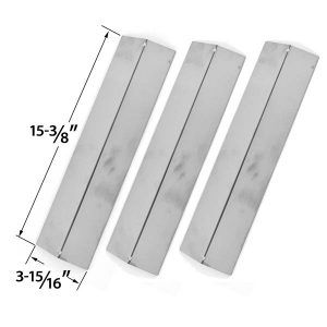 3-PACK-STAINLESS-STEEL HEAT-COVER-FOR-BRINKMANN-UNIFLAME-GBC091W-GBC831WB-CHARMGLOW-GRILL-KING-GAS-GRILL-MODELS
