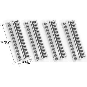 4-PACK-STAINLESS-STEEL-HEAT-PLATE-REPLACEMENT-FOR-BRINKMANN-AND-CHARMGLOW-GAS-GRILL-MODELS