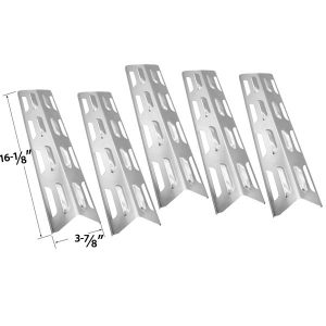 5-PACK-REPLACEMENT-STAINLESS-STEEL-HEAT-PLATE-SHIELD-FOR-BACKYARD-GRILL-BY12-084-029-97-MASTER-FORGE-B10LG25
