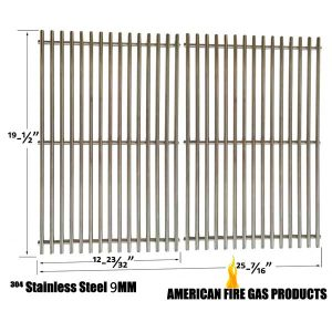 9MM-HEAVY-DUTY-WEBER-7528-REPLACEMENT-STAINLESS-STEEL-COOKING-GRATES-FOR-WEBER-GENESIS-E-AND-S-SERIES-GAS-GRILL-MODELS-SET-OF-2