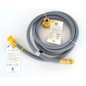 NATURAL GAS 8 FEET HOSE WITH QUICK DISCONNECT FOR HIGH OUTPUT GRILLS