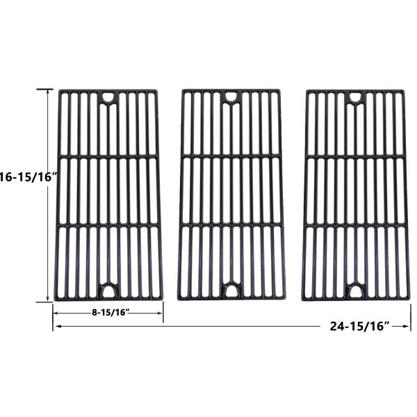 Grill Parts Replacement For Charbroil Gloss Cast Iron Cooking Grid