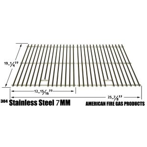 REPLACEMENT STAINLESS STEEL COOKING GRATES FOR BRINKMANN, GLEN CANYON, JENN-AIR, KIRKLAND, NEXGRILL, PERFECT GLO, PERMASTEEL AND UBERHAUS GAS GRILL MODELS, SET OF 2