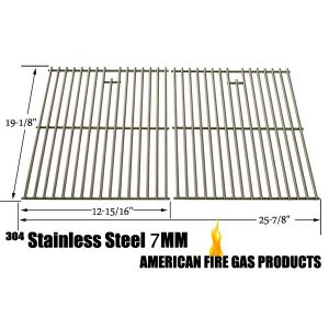REPLACEMENT STAINLESS STEEL COOKING GRATES FOR BROIL-MATE 735269, 735289, 738289, 738989, 746164, 746189, 785964, 786164, 786167, 786184, 786187, 786189, GAS GRILL MODELS, SET OF 2