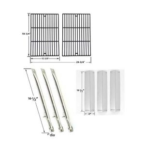REPAIR-KIT-FOR-BBQ-GRILLWARE-GGPL-2100-GAS-GRILL-INCLUDES-3-STAINLESS-STEEL-BURNERS-3-STAINLESS-STEEL-HEAT-SHIELDS-AND-PORCELIAN-CAST-COOKING-GRATES-1