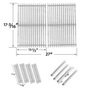 REPAIR-KIT-FOR-SUNBEAM-GRILL-MASTER-720-0697-BBQ-GAS-GRILL-INCLUDES-4-STAINLESS-BURNERS-4-STAINLESS-HEAT-PLATES-AND-STAINLESS-STEEL-COOKING-GRATES-1