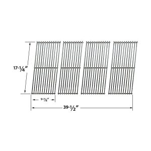 REPLACEMENT-STAINLESS-STEEL-COOKING-GRID-FOR-AUSSIE-69F6U00KS1-DURO-780-0390-AND-TERA-GEAR-780-0390-GAS-GRILL-MODELS-SET-OF-4