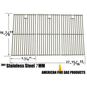 REPLACEMENT STAINLESS STEEL COOKING GRID FOR CHARBROIL 463420507, 463420508, 463420509, KENMORE 463420507, 461442513 AND MASTER CHEF 85-3100-2, 85-3101-0, G43205, T480 GAS GRILL MODELS, SET OF 3