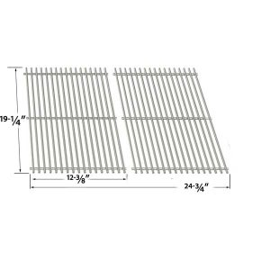 STAINLESS COOKING GRID FOR BRINKMANN-AUGUSTA-810-4040-B-AUSTIN-810-6330-B-GRAND-GOURMET-2250-810-2250-0-GAS-GRILL-MODELS-SET-OF-2