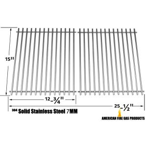STAINLESS GRATE FOR BROIL KING 945584, 945587, 94624, 94627, 94644 AND BROIL-MATE 1155-54, 1155-57, 115554, 115557 GAS GRILL MODELS, SET OF 2