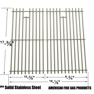 STAINLESS STEEL COOKING GRID REPLACEMENT FOR BRINKMANN 810-3820-S, 810-3821-S, DYNA-GLO DGP350NP AND MASTER FORGE MFA350CNP GAS GRILL MODELS, SET OF 2