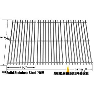 STAINLESS STEEL COOKING GRID REPLACEMENT FOR CENTRO 2000, 4000, 85-1210-2, 85-1250-6, 85-1273-2, 85-1286-6, G40204, G40205, G40304, G40305, G40200, G40202 GAS GRILL MODELS, SET OF 3