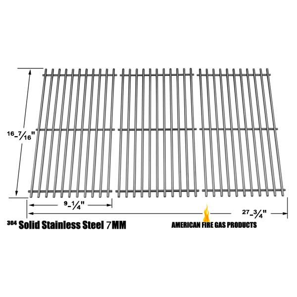 STAINLESS STEEL COOKING GRID REPLACEMENT FOR GAS GRILL MODELS BACKYARD  CLASSIC BY13 101 001