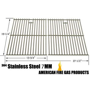 STAINLESS STEEL COOKING GRID REPLACEMENT FOR HENDERSON SRGG41009, NEXGRILL 720-0677, PRESIDENTS CHOICE 09011042PC, 09011044PC, PC10011016, 419225, SHINERICH SRGG41009 AND SONOMA PF30LP GAS GRILL MODELS, SET OF 2