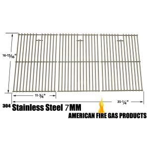 STAINLESS STEEL COOKING GRID REPLACEMENT FOR MASTER CHEF 85-3008-4, 85-3009-2, T620LP, T620NG, G65001, G65002, NEXGRILL 720-0419, 720-0459 AND NORTH AMERICAN OUTDOORS 720-0419, 720-0459, BB10837A GAS GRILL MODELS, SET OF 3