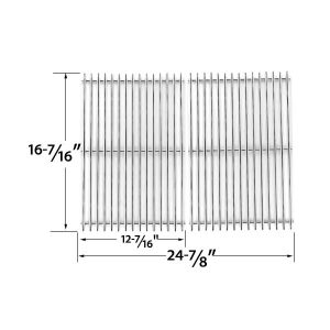 STAINLESS-STEEL-REPLACEMENT-COOKING-GRID-FOR-CHARBROIL-640-01303702-3 AND-KENMORE-146.162222010