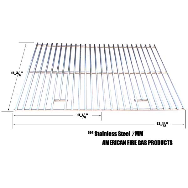 STAINLESS STEEL COOKING GRID FOR AOG 24NB, 24NG, 24NP, 24PC, 36NB, 36PC, CENTRO, FIRE MAGIC AND CHARMGLOW GRILLS