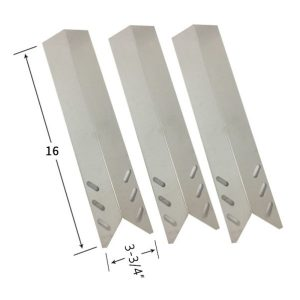 Replacement Stainless Steel 3 Pack Heat Shield For Grill Chef BM2000, FL2000, GBC1088WB Gas Grill Models