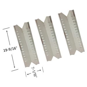 3 Pack Replacement Stainless Steel Heat Shield For Master Forge 30030MSF Gas Grill Model