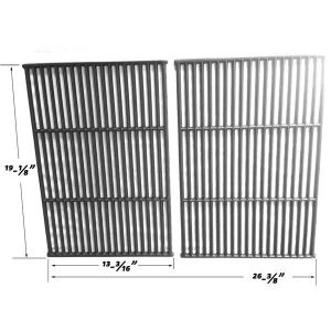 Replacement 2 Pack Cast Iron Cooking Grates For Perfect Flame 276964L and Grill Pro 224069, 238289, 285164 Gas Grill Models