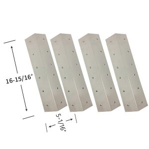 Replacement Stainless Steel 4 Pack Heat Shield For Coleman 9947A726 Gas Grill Model