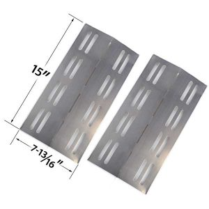 2 PACK REPLACEMENT STAINLESS STEEL HEAT PLATE FOR MEMBERS MARK MODELS REGAL04CLPS54 MBERS MARK REGAL 04CLP AND GRILL CHEF PR364 GAS GRILL MOD