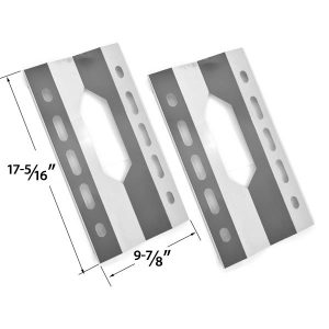 2 PACK REPLACEMENT STAINLESS STEEL HEAT SHEILD FOR GLEN CANYON 720-0026-LP, 720-0152-LP, KIRKLAND 720-0108 AND STERLING FORGE 720-0016 GAS GRILL MODELS