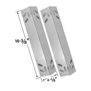 2 PACK STEEL HEAT SHIELD REPLACEMENT FOR KENMORE 119.16434010, 119.16658010, 119.16658011, 119.16670010, 119.16676800, 119.17676800, B10SR8-A1 GAS GRILL MODELS