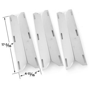 3 PACK MEMBER'S MARK 720-0584, GRAND ISLE 860-0193, PERFECT FLAME 720-0522, 720-0522CAN, 730-0522 & SAMS 720-0582, 720-0584A GAS GRILL STAINLESS STEEL STEEL HEAT SHIELD