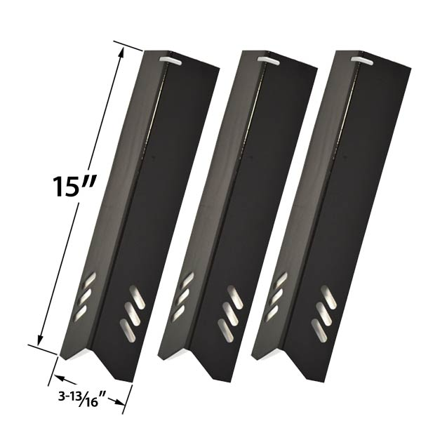 3 PACK PORCELAIN HEAT PLATE REPLACEMENT FOR BHG BH13-101-001-01, GBC1362W AND PHOENIX KS10002 LOWES MODEL GRILLS