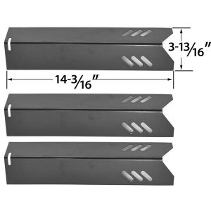 3 PACK PORCELAIN STEEL HEAT PLATE REPLACEMENT FOR UNIFLAME GBC1030W, GBC1030WRS, GBC1030WRS-C, GBC1134W, GBC1134WRS, UNIFLAME GBC1134WBL LOWES GAS GRILL MODEL