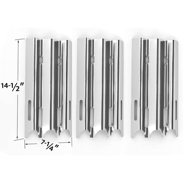 3-PACK-STAINLESS-STEEL-HEAT-PLATE-FOR-JENN-AIR-VERMONT-CASTINGS-BBQ PRO-GREAT-OUTDOORS-GAS-GRILL-MODELS