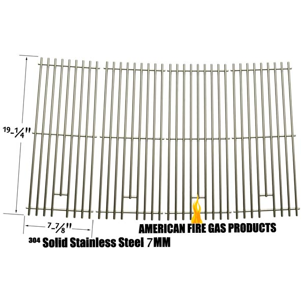4 PACK HEAVY DUTY REPLACEMENT STAINLESS STEEL COOKING GRATES FOR DUCANE 30400041, DURO 720-0584A AND BBQ GALORE XG4TBWN GAS GRILL MODELS