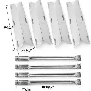 4-PACK-REPLACEMENT-REPAIR-KIT-FOR-CHARMGLOW-720-0396-720-0578-GAS-GRILL-MODELS-4-STAINLESS-STEEL-BURNERS-4-STAINLESS-HEAT-PLATES-1