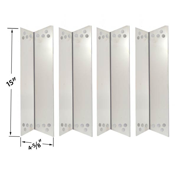 4-PACK-STAINLESS-STEEL-HEAT-PLATE-REPLACEMENT-FOR-CHARBROIL-KENMORE-SEARS-122.16134110-415.16107110