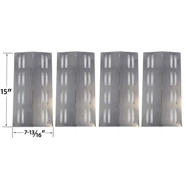 4-PACK-STAINLESS-STEEL-REPLACEMENT-HEAT-SHIELD-FOR-GRILL-CHEF-PR364-BARBEQUES-GALORE-3BENDLP-MEMBERS-MARK-MODELS-REGAL04CLP