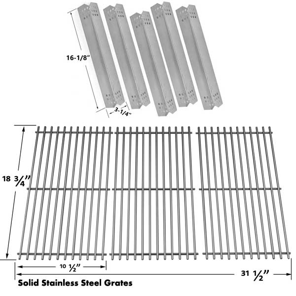 JENN-AIR-720-0709-720-0709B-720-0727-GAS-GRILL-MODELS-5-HEAT-SHIELDS-AND-STAINLESS-STEEL-COOKING-GRATES-SET-OF-3-1