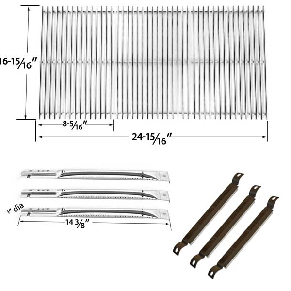 CHARBROIL-463320109-463320110-463470109-REPAIR-KIT-FOR-BBQ-GAS-GRILL-INCLUDES-3-STAINLESS-STEEL-BURNER-3-CROSSOVER-TUBES-AND-STAINLESS-GRATES-1