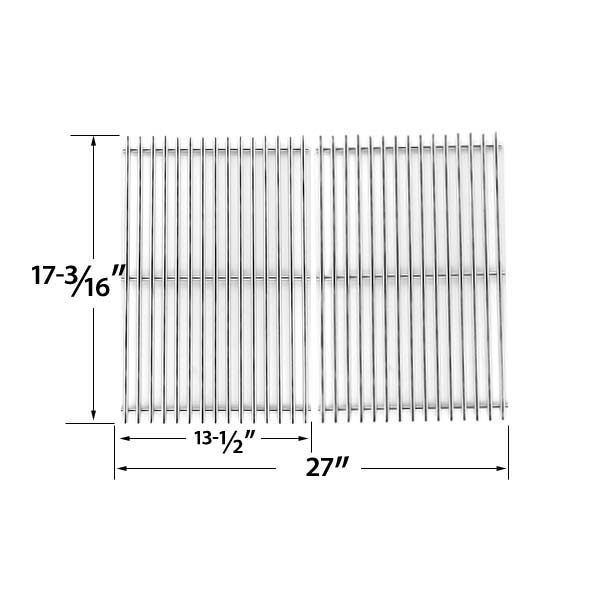 HEAVY-DUTY-REPLACEMENT-STAINLESS-STEEL-COOKING-GRATES-FOR-UNIFLAME-GBC091W-GBC940WIR-GBC956W1NG-C