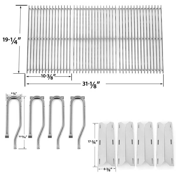 JENN-AIR-720-0337-7200337-720 0337-REPAIR-KIT-FOR-BBQ-GAS-GRILL-INCLUDES-4-STAINLESS-BURNERS-4-STAINLESS-HEAT-PLATES-AND-STAINLESS-STEEL-GRATES-1