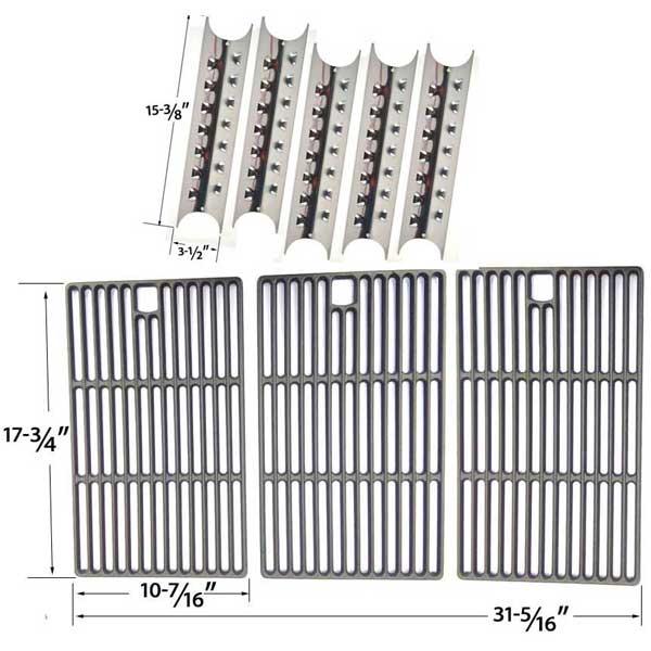 master-forge-3218lt-3218ltn-l3218-gas-grill-repair-kit-includes-5-heat-shields-and-porcelain-cast-grates