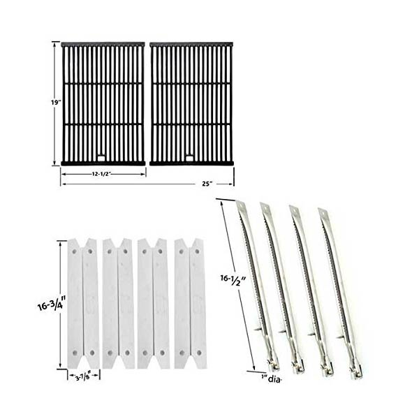 repair-kit-for-brinkmann-810-8401-s-bbq-grill-includes-4-stainless-heat-plates-4-stainless-burners-and-porcelain-cast-cooking-grates-1