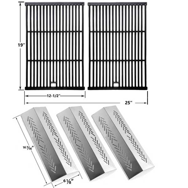 REPAIR-KIT-FOR-BROILMATE-726454-726464-736454-736464-BBQ-GAS-GRILL-INCLUDES-3-STAINLESS-BURNERS-AND-3-STAINLESS-HEAT-PLATES-1