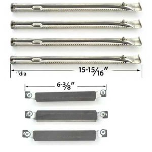 REPAIR-KIT-FOR-CHARBROIL-463247310-463257010-BBQ-GAS-GRILL-INCLUDES-4-STAINLESS-STEEL-BURNERS-AND-3-CROSSOVER-TUBES-1