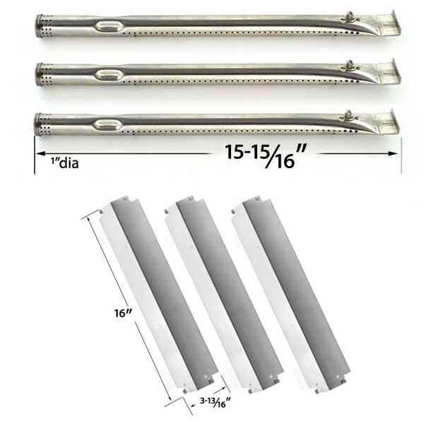REPAIR-KIT-FOR-CHARBROIL-463261709-PRECISION-FLAME-INFRARED-3-BURNER-BBQ-GAS-GRILL-INCLUDES-3-STAINLESS-STEEL-BURNERS-AND-3-STAINLESS-STEEL-HEAT-PLATES-1