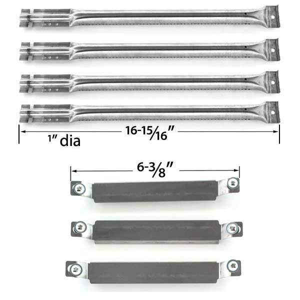 REPAIR-KIT-FOR-CHARBROIL-463268207-463268806-GAS-GRILL-INCLUDES-4-STAINLESS-STEEL-BURNERS-AND-3-CROSSOVER-TUBES-1