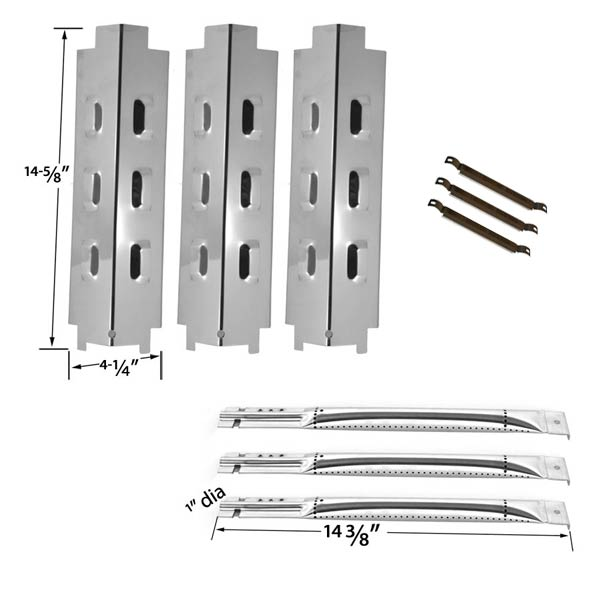 REPAIR-KIT-FOR-CHARBROIL-463320109-3-BURNER-BBQ-GAS-GRILL-INCLUDES-3-STAINLESS-STEEL-BURNER-3-STAINLESS-HEAT-SHIELDS-AND-3-CROSSOVER-TUBES-1