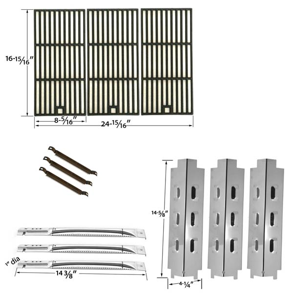REPAIR-KIT-FOR-CHARBROIL-463320109-BBQ-GAS-GRILL-INCLUDES-3-STAINLESS-STEEL-BURNER-3-STAINLESS-STEEL-HEAT-PLATE-1