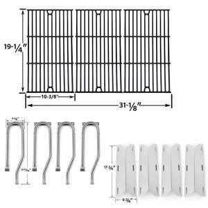 REPAIR-KIT-FOR-JENN-AIR-720-0337-7200337-720 0337-BBQ-GAS-GRILL-INCLUDES-4-STAINLESS-BURNERS-4-STAINLESS-HEAT-PLATES-AND-PORCELAIN-GRATES-1
